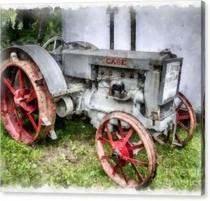 Limited Time Offer On Vintage Tractor Canvas Print