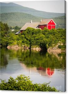 Limited Time Promotion On Connecticut River Farm Canvas Print